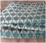 running material online shopping india buy blouse fabric online Embroidery Chanderi Cotton Sea Green, Cream 44 inches Wide 1730