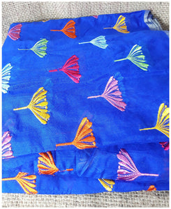 buy cloth material online india buy embroidered fabric Chanderi Cotton Royal Blue 43 inches Wide Blue