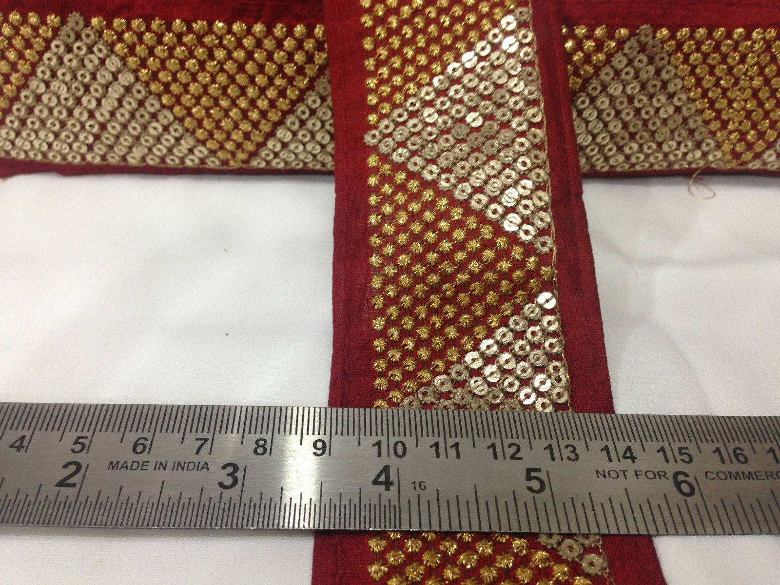 wholesale fabric trim suppliers border lace for sale Pink Baby Pink, Gold Embroidery Shinny Sturdy Fabric Less than 2 inch