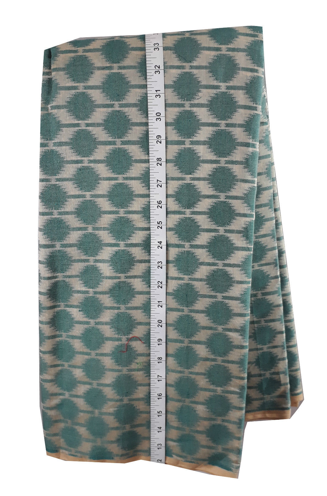 indian beaded fabric buy online buy blouse fabric online Embroidery Chanderi Cotton Sea Green, Cream 44 inches Wide 1730
