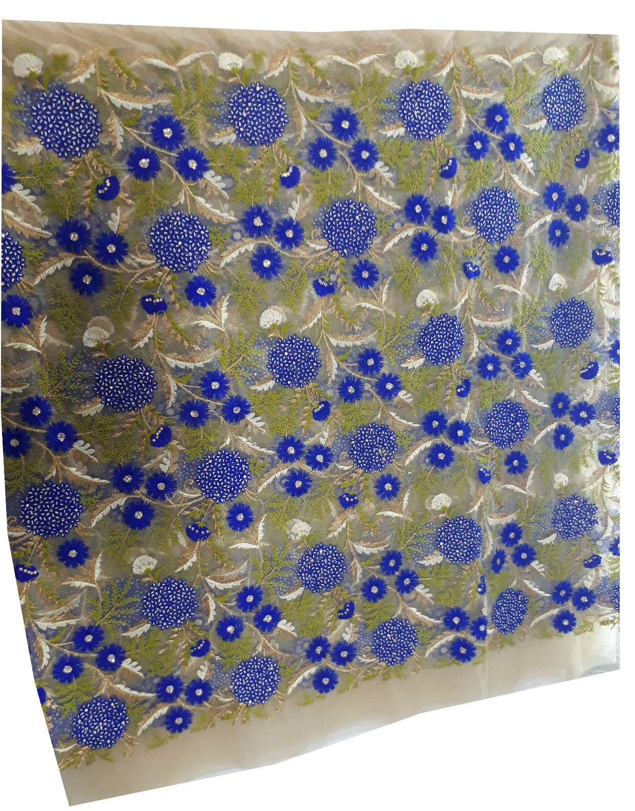 buy cloth material online embroidery material online shopping Net Beige, Green, Blue, Gold, White 42 inches Wide 1631