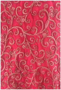 dress material online dress material Embroidery Georgette Pink 41 inches Wide 8002