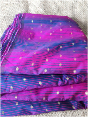 indian dress fabric material blouse fabric online shopping Embroidered Polyester Magenta, Purple, Gold 46 inches Wide 1678