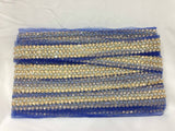 border lace for sale bridal lace trim suppliers Blue Blue, Pearl, Gold Embroidery n stone n pearls Net Less than 2 inch