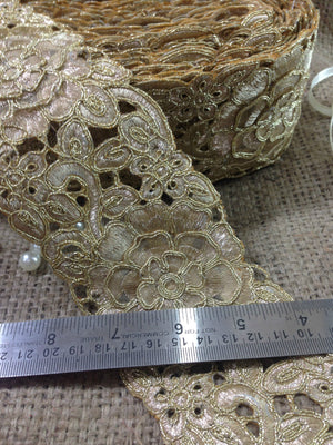 bridal lace fabric online bridal rhinestone appliques wholesale Gold Copper Embroidery Polyester Less than 4 inch
