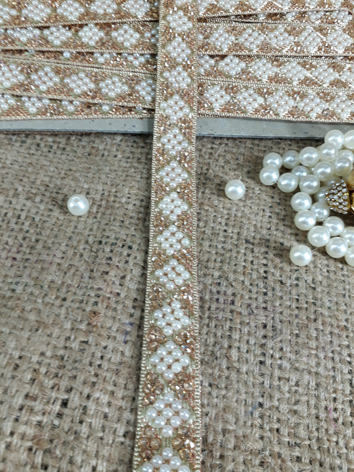 wholesale wood trim suppliers gold lace applique Beige Gold, Off White, Brown Embroidered, Stone, Pearl Net Less than 4 inch