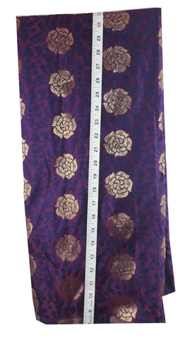 Image of embroidery material online shopping india buy saree blouse material online Embroidered Silk Purple 49 inches Wide 1799