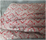 indian embroidery fabric online wholesale fabric store india Embroidery Faux Silk Brick Red 43 inches Wide 8017