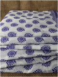 plain dress material online buy embroidery materials online Cotton Off White, Blue 49 inches Wide 1793