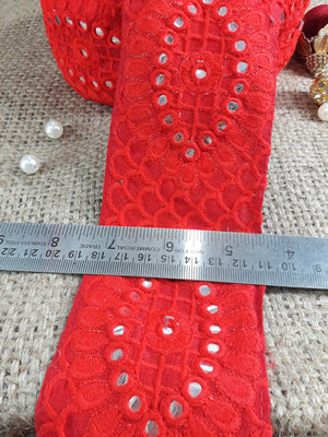 lace material for dressmaking lace fabric online Maroon Gold, Off White Embroidery and Sequins Polyester Less than a inch