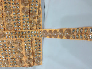 lace trim wholesale wholesale trim suppliers Peach Peach, Gold Embroidery n Stone Polyester Less than a inch