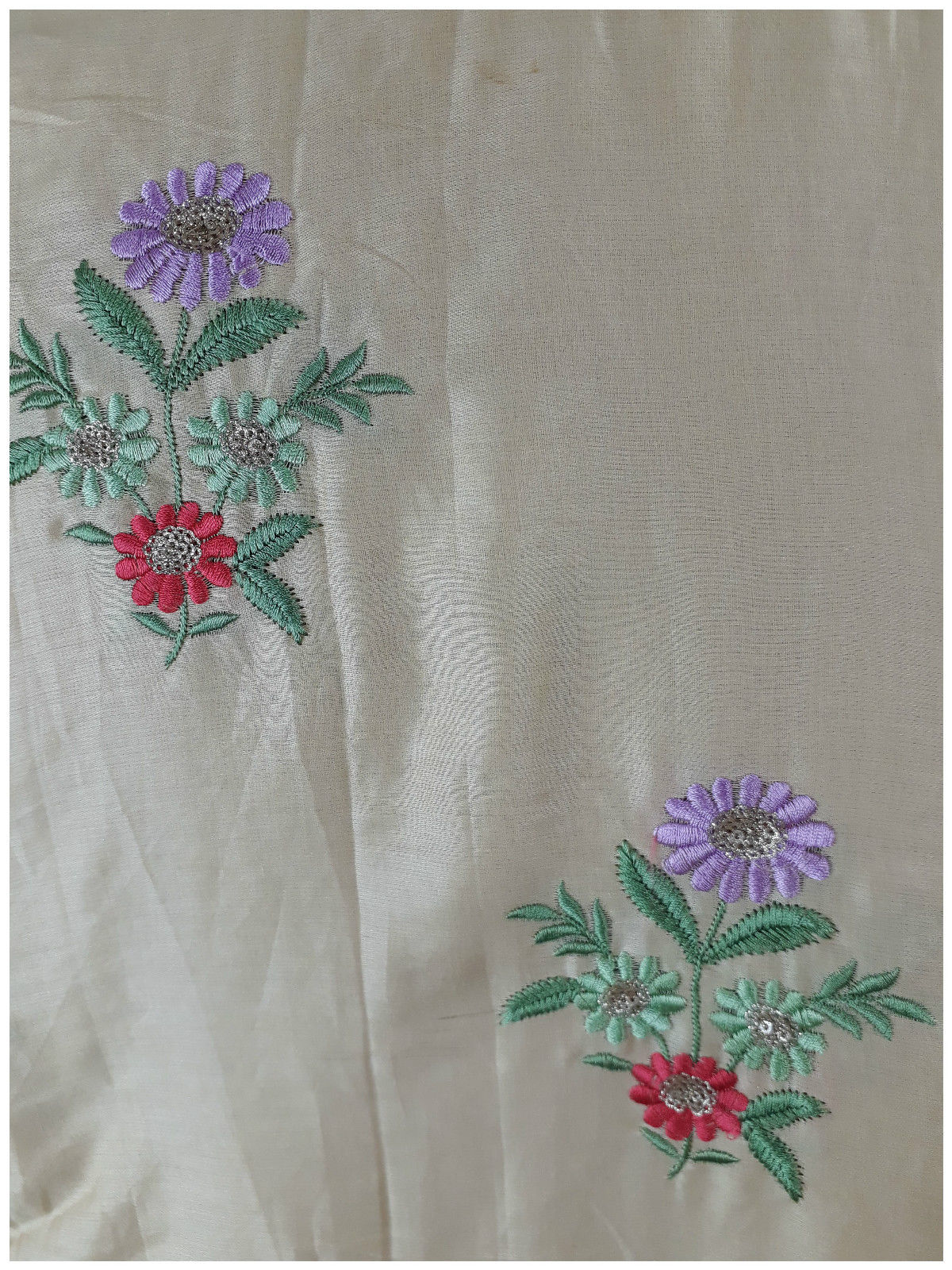 buy running fabric online india embroidery materials buy online Cotton Beige 41 inches Wide 1720