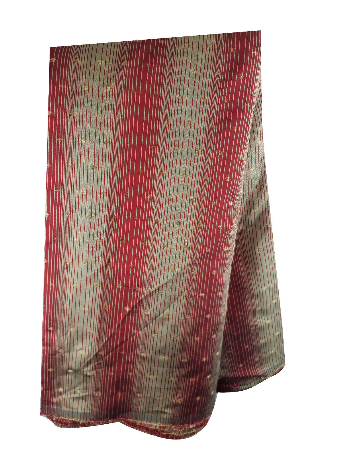 running fabrics online india fabric online india Embroidered Polyester Red, Gold 46 inches Wide 1677