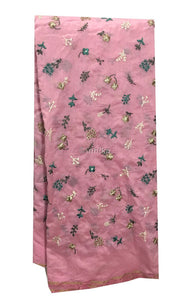 embroidery materials buy online fabric cloth online india Embroidery Cotton Chanderi Pink, Teal Green, Gold, White, Dark Grey 43 inches Wide 9173