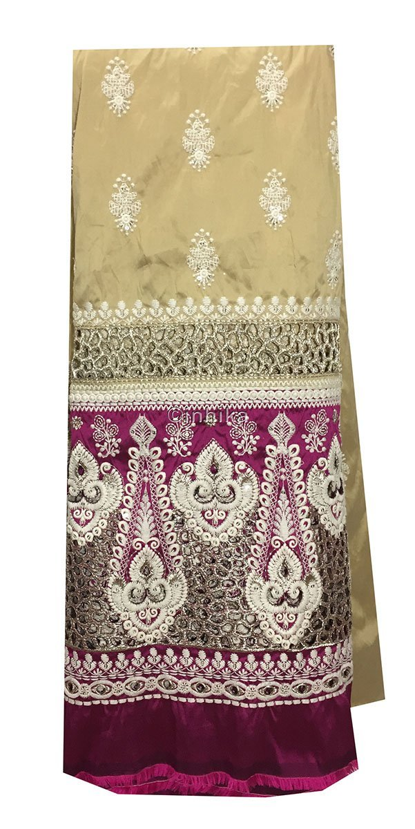 embroidery fabric online india indian dress fabric material Embroidery Taffeta Beige, Magenta, Light Gold, White 54 inches Wide 9165