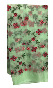 running material online india blouse fabric online shopping india Embroidery Organza / Tissue Green, Red, Pink, Maroon 43 inches Wide 9167