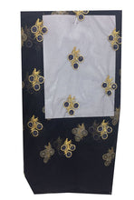 Load image into Gallery viewer, navy blue embroidered fabric
