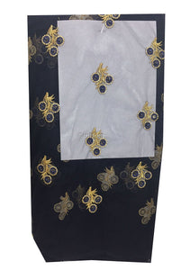 navy blue embroidered fabric