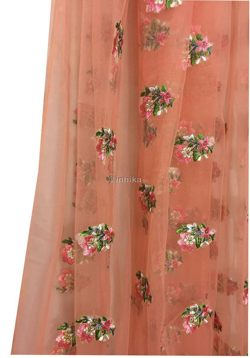 Peach soft net fabric