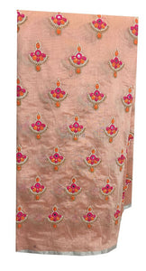 embroidery material online shopping india embroidery blouse material online Cotton Chanderi Light Peach, Orange, Pink, White, Gold 42 inches Wide 9181