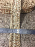 lace trim fabric sequin appliques and trims suppliers Beige-Embroidery-3-Inch-Wide-3288