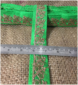 lace trim fabric online saree lace border patterns design with price Green-Embroidery-Sequins-2-Inch-Wide-3279