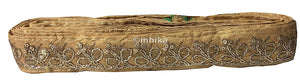 lace trim fabric online saree lace border patterns design with price Beige-Embroidery-Sequins-2-Inch-Wide-3286