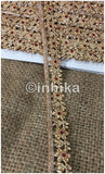 lace trim fabric designer fabric trim for garment wholesale suppliers Gold-Flower-Design-With-Stone-1-Inch-Wide-