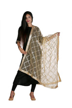 Load image into Gallery viewer, net dupatta golden, gota patti embroidery