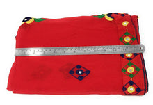 Load image into Gallery viewer, Red Dupatta With Embroidery