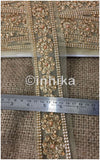 lace trim fabric beaded bridal braid trim by the yard Beige-Embroidered-Stonepearl-2-Inch-Wide-3196