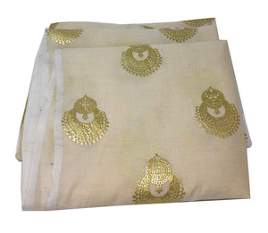Gold foil Print fabric