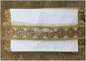 lace trim fabric garment accessories suppliers in mumbai Beige-Embroidered-Stonepearl-2-Inch-Wide-3196