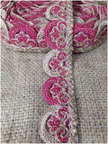 lace trim fabric sewing trims and embellishments for clothing Rani-Pink-Embroidery-2-Inch-Wide-3261