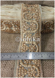lace trim fabric where to buy fringe for clothing Beige-Zari-Stone-4-Inch-Wide-3245