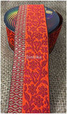 lace trim fabric fringe trim by the yard for clothing Red-Orange-Zari-3-Inch-Wide-3231