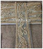 lace trim fabric fancy saree border lace for sale Beige-Zari-3-Inch-Wide-3238