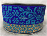 lace trim fabric designer fabric trim for garment wholesale suppliers Royal-Blue-Zari-3-Inch-Wide-3229