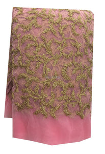 fancy embroidered fabrics fabric online india Embroidery Net, Mesh, Tulle Pink 44 inches Wide 9215