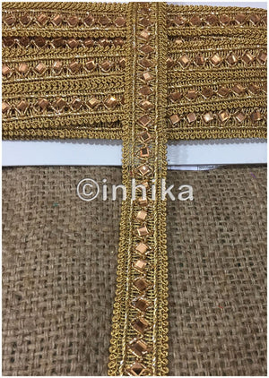 lace trim fabric trims in fashion Gold-Embroidered-Gold-Mirror-2-Inch-Wide-3197