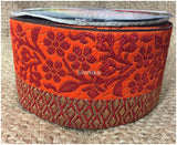 lace trim fabric garment accessories suppliers in mumbai Red-Orange-Zari-3-Inch-Wide-3231