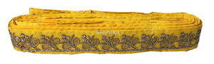lace trim fabric garment accessories suppliers in mumbai Yellow-Embroidery-Sequins-2-Inch-Wide-3277