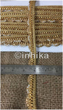 9 Meter (Yard) Roll of Lace Gold Friinge Waves Stone and Pearl option - Inhika.com