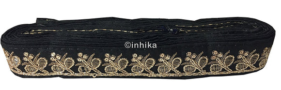 lace trim fabric garment trims and accessories wholesale suppliers Black-Embroidery-Sequins-2-Inch-Wide-3284