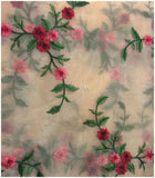 designer blouse fabric online buy dress fabric online india Embroidery Organza / Tissue Peach, Green, Pink, Red, Maroon 39 inches Wide 9172