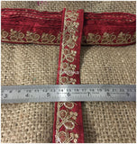 lace trim fabric bridal wedding lace trim by the yard wholesale suppliers Maroon-Embroidery-Sequins-2-Inch-Wide-3282