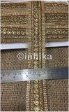 lace trim fabric designer jacquard fabric ribbon trim Beige-Embroidered-Stone-2-Inch-Wide-