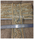 lace trim fabric designer fabric trim for garment wholesale suppliers Beige-Zari-3-Inch-Wide-3238