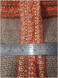 lace trim fabric garment accessories suppliers in mumbai Orange-Embroidery-3-Inch-Wide-3292
