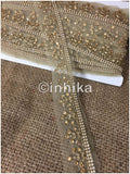 lace trim fabric where to buy fringe for clothing Beige-Embroidered-Stone-2-Inch-Wide